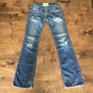 Big Star Distressed Jeans size 26L